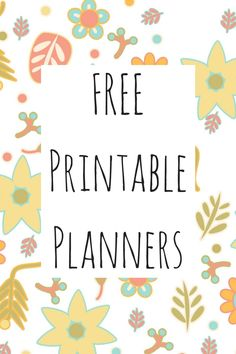 Free Printable Planners Are Here: Get Yours! Four different design of eight different planners, absolutely free to download and print!