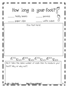 measurement- The Foot Book, Dr. Measurement Kindergarten, Measurement Activities, Math Measurement, Kindergarten Math, Math Activities, Math Games, Dr. Seuss, Math Stations, Math Centers