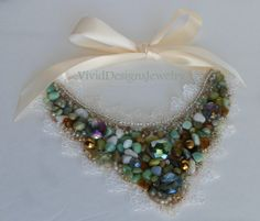 Seafoam Green Bib Statement Necklace - Anthropologie and J Crew Inspired - Multi Color Mint Sea Foam Green Bib Briolette Chunky Necklace on Etsy, $44.00