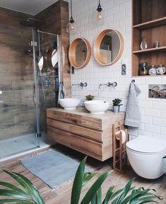 Bathroom Decor Sets, Wood Bathroom, Bathroom Layout, Bathroom Flooring, White Bathroom, Bathroom Interior Design, Modern Bathroom, Bathroom Ideas, Bathroom Designs