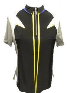 Jamie Sadock Tahiti Cap Collar Short Sleeve Golf Shirt-NAPD #jamiesadockgolfclothing #ladiesjamiesadock #golfclothing #ladiesgolfclothing #jamiesadock #tahiti  www.ladiespro.com