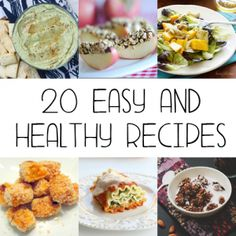 20 Easy and Healthy Recipes to help stick to your diet.  All are easy to make and oh so delicious.  #healthy #recipes