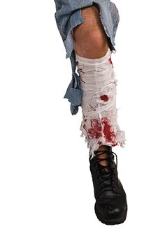 Bloody Leg Bandage £2.65 : Direct 2 U Fancy Dress Superstore. Fancy Dress & Accessories For The Whole Family.http://direct2ufancydress.com/bloody-leg-bandage-p-6645.html