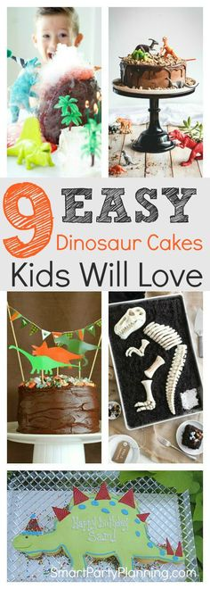 Learn how to make easy dinosaur cakes for a birthday the kids will remember forever. With simple ideas and tutorials, you will have just as much fun making the cake as the kids will eating it. It& easier than you think to make an impressive DIY cake. Dinosaur Cake Easy, Dinosaur Cakes For Boys, The Good Dinosaur Cake, Dino Cake, Dinosaur Cake Tutorial, Dinosaur Cupcake Cake, Dinasour Birthday Cake, Diy Birthday Cake, Dinosaur Birthday Party