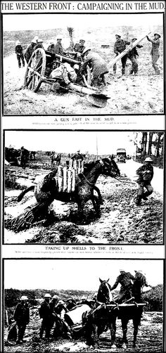 """WWI, 7 Nov 1917;""""Western Front -Campaigning in the mud"""" - Sydney Mail"""