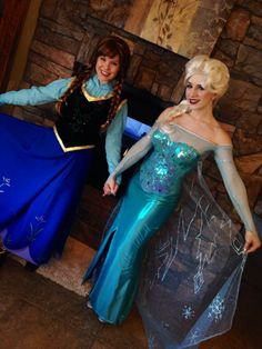 My personal Frozen Cosplay! My friend Kyley as Anna, and myself as Elsa :) Costumes crafted entirely by hand.