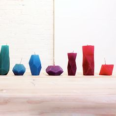 Make geometric, faceted candles and a bunch of other handy knick-knacks with HomeMade Modern's FREE, printable templates.