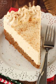 Eggnog Spice Blondie Cheesecake - a spiced blondie topped with no bake ...
