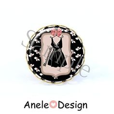 Bague Mademoiselle robe pompon Mademoiselle, Accessories, Design, Pom Poms, Dress, Design Comics, Jewelry