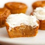 Impossible Pumpkin Pie Cupcakes http://bakingbites.com/2009/10/impossible-pumpkin-pie-cupcakes/