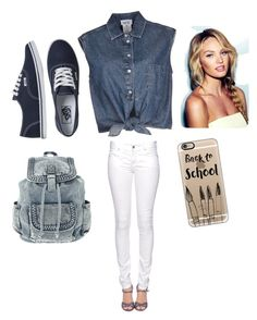 """""""back to school clothe"""" by nicmarb on Polyvore featuring Jean-Paul Gaultier, Citizen of Humanity, Vans and Casetify"""