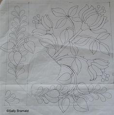 Wool Applique Patterns, Hand Applique, Applique Quilts, Quilt Patterns, Applique Ideas, Machine Applique, Flower Applique, Rag Rug Tutorial, Rug Inspiration