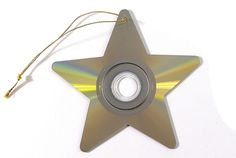 recycled cd star