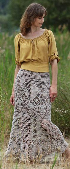 crochet skirt by krinichka on Etsy