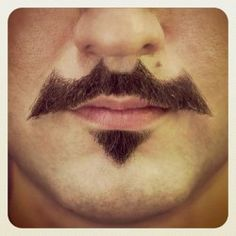 Batman moustache. For all the gents I know participating in Movember.