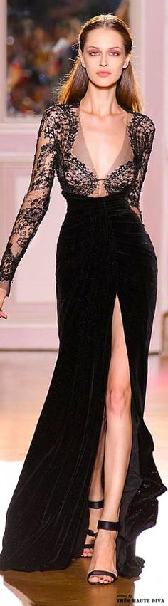 Zuhair Murad Couture. black