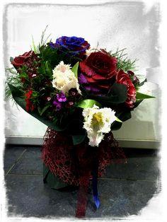 Rose rosse _glitter blu