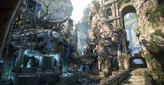"""ArtStation - Gears of War Judgment """"LostCity"""" Map, Marcin Winkowski"""