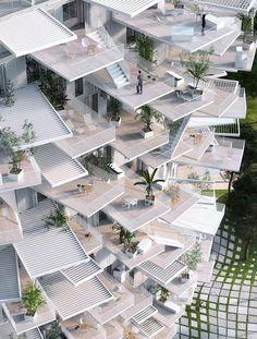 """""""L'Arbre Blanc"""", il grattacielo dalle forme arboree griffato Sou Fujimoto a…"""