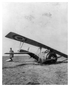 Downed US Airplane with German soldier investigating