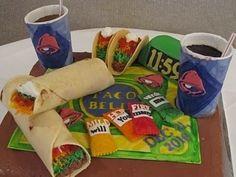 Taco Bell Tacos and Burritos Cake, proposal cake. lol