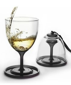 Black Stack 'N' Go Wineglass Set #zulily *too cool