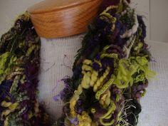 Mobius twist scarf crocheted cowl handspun art yarn by iWunder, $95.00