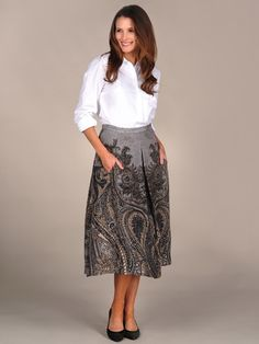 Tracy Reese Inverted Pleat Skirt....cute