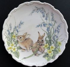 Royal Albert - The Country Walk Collection - Collector Plates -Spring Capers Easter Dishes, Country Walk, China Plates, China Painting, China Patterns, Vintage Easter, Royal Albert, Bone China, China China