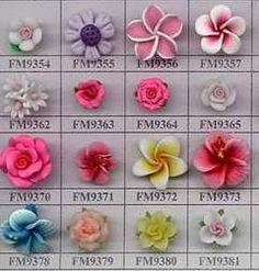 polymer clay flower tutorials - Google Search