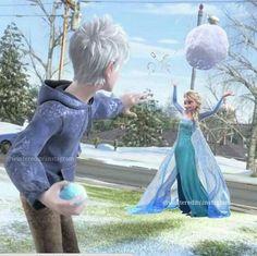 Jelsa snowball fight ;)