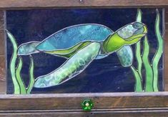 Sea turtle - Michelle Carlson - Gallery - Stained Glass Town Square