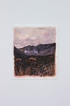 Moody and warm mini landscape painting in acrylic paint. Mixed Media Art, Landscape Paintings, Around The Worlds, Warm, Mini, Instagram, Mixed Media, Landscape, Landscape Drawings