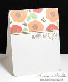 Clean and simple card by Mama Mo Stamps: WPlus9 Release Day!