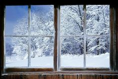 Wall decal, Winter window view-large 24x36