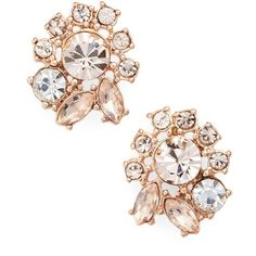 Women's Marchesa Cluster Button Earrings (2.630 RUB) ❤ liked on Polyvore featuring jewelry, earrings, cluster jewelry, polish jewelry, earrings jewellery, button jewelry and stud earrings