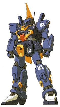 The RMS-154 Refined Barzam is a mass-produced general purpose mobile suit. It was featured in the photo-novel Gundam Sentinel.