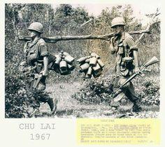Vietnam War; Chu Lai: 1967: Water run for platoon