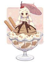 Ice Cream chibi by on deviantART Manga Anime, Manga Kawaii, Arte Do Kawaii, Cute Anime Chibi, Kawaii Chibi, Kawaii Art, Anime Art, Cute Food Drawings, Kawaii Drawings
