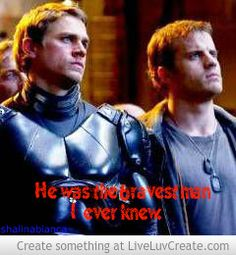 """""""He was the bravest man I ever knew."""" Chuck Hansen and Raleigh Becket (Robert Kazinsky and Charlie Hunnam, in Pacific Rim)"""