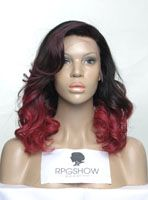 Full Lace Wigs|Lace Front Wigs|Lace Wigs @ RPGSHOW Stock Ombre Color Full Lace Wig - XW001-s [XW001] - Real product photo info: hair color: #2/Red hair length: 14