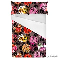 Floral Dots AW by BethaniaLimaDesigns. Fall winter print, in trendy colors. Just in time for the autumn! Available as Royalty Free Stock License or Extended Stock License through @patt