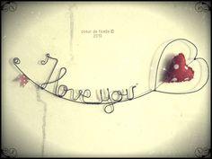 I love you en fil de fer