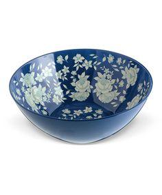 Blue & White Large Salad Bowl #zulily #zulilyfinds