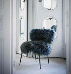 baxter furniture italy -blue islandic sheep skin for makeup room