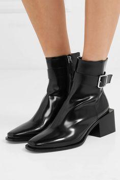 2865599afec Jil Sander - Glossed-leather ankle boots