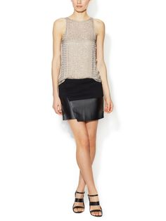 Faux Leather Wrap Mini Skirt from As Seen on E! News: Top Spring Trends on Gilt