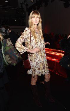 Jessica Hart - Diane Von Furstenberg Fall 2015  Front Row - February 15, 2015