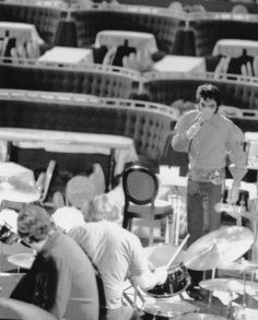 Elvis in Rehearsal @ the Showroom, International Hotel, Las Vegas, 1970 which became the concert movie @That's The Way It Is""