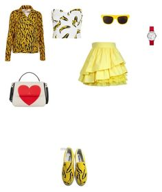 """""""Untitled #3049"""" by anamaria-zgimbau ❤ liked on Polyvore featuring Michael Kors, Topshop, HVBAO, Kate Spade and Moschino"""